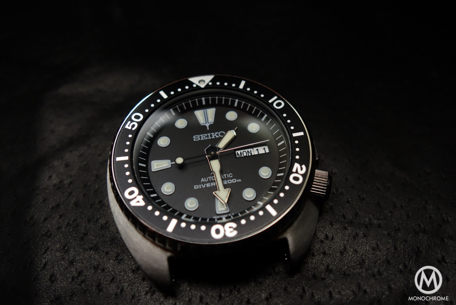 Seiko Prospex SRP777 - review - close-up dial