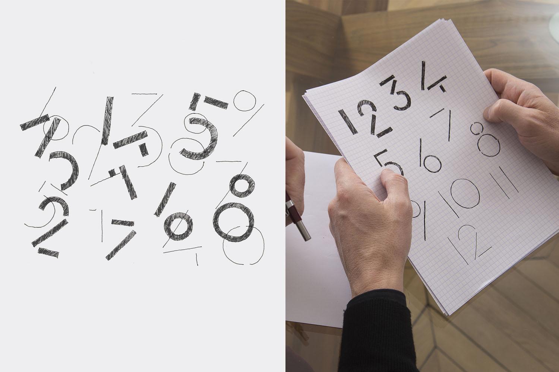 Slim d'Hermes - numerals design