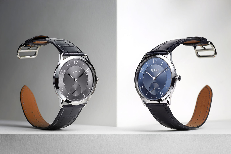 Slim d'Hermes - slate grey and blue dial 2016