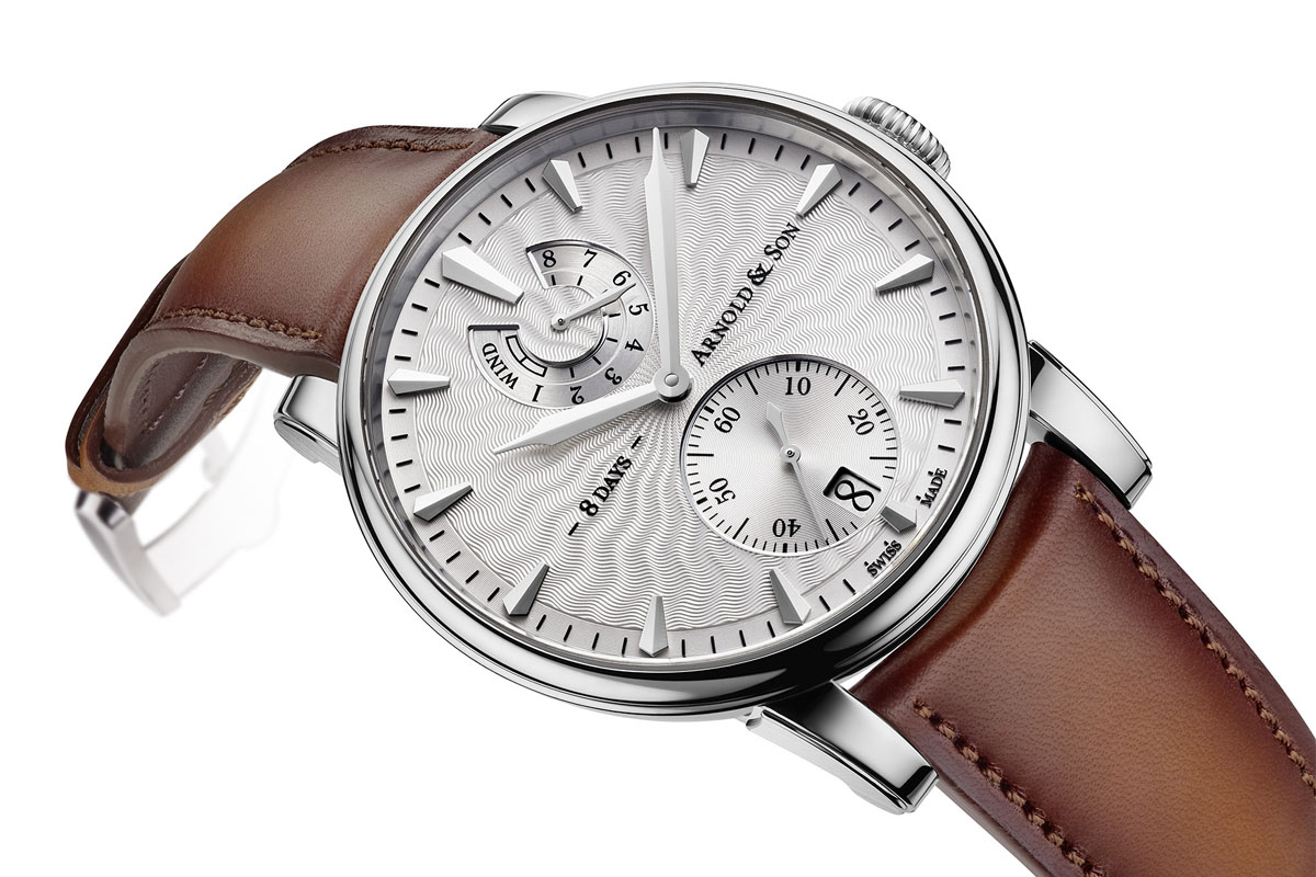 Arnold and Son Eight-Day Royal Navy - silver dial