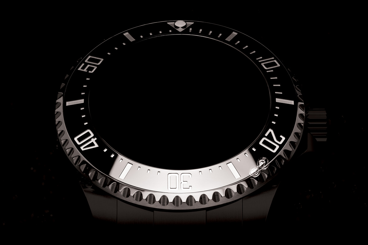 60-minute diving scale bezel