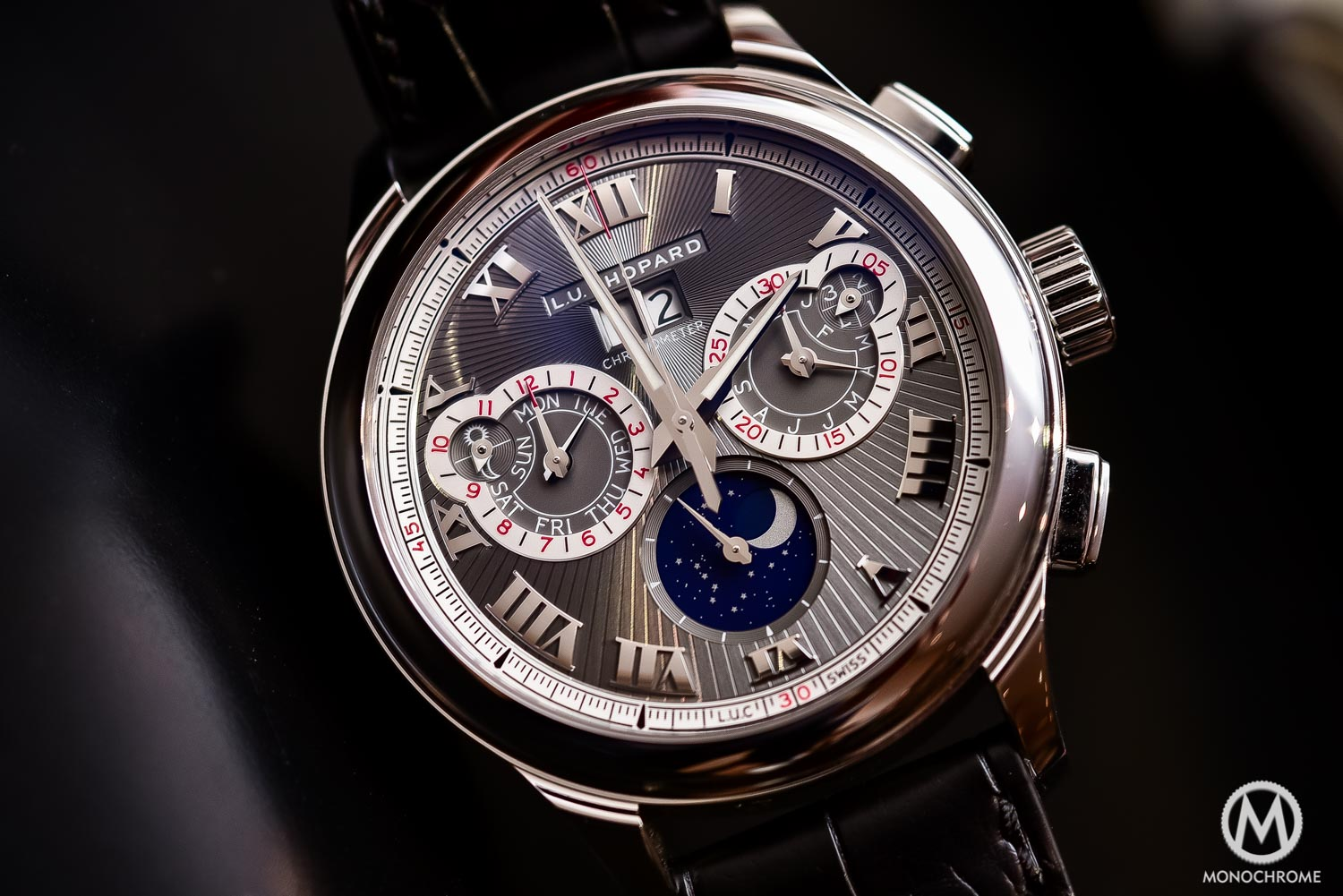 Chopard L.U.C Perpetual Chrono Fairmined white gold - Baselworld 2016 - 1