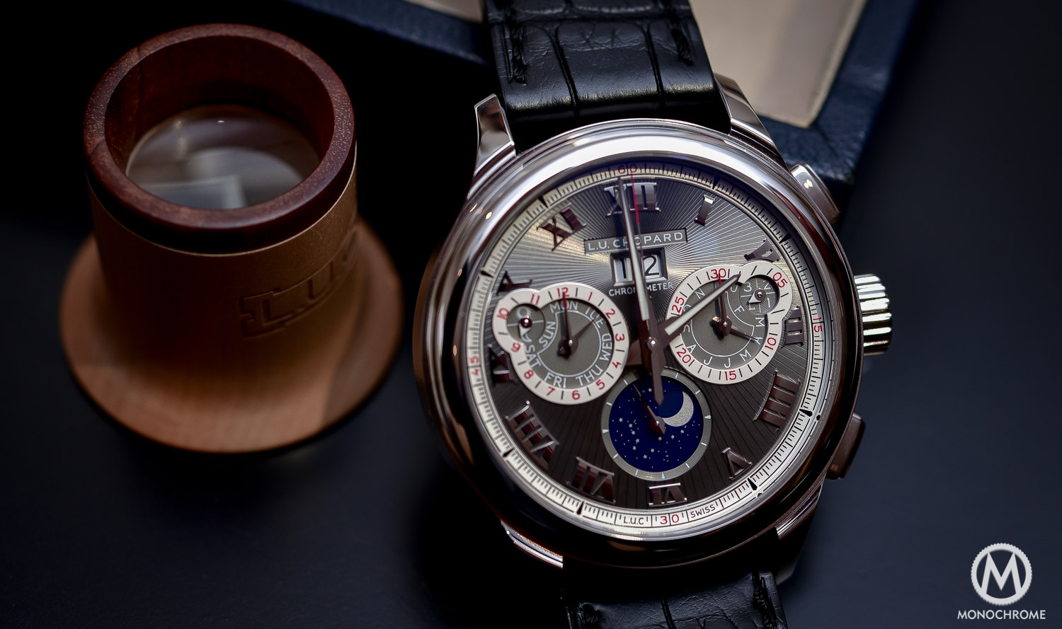 Chopard L.U.C Perpetual Chrono Fairmined white gold - Baselworld 2016 - 5