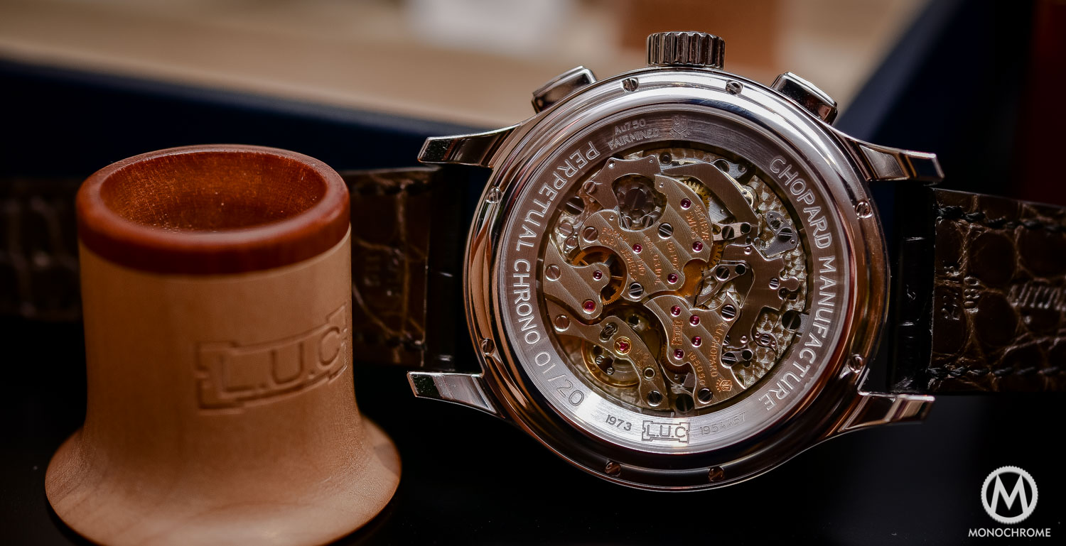 Chopard L.U.C Perpetual Chrono Fairmined white gold - Baselworld 2016 - 6
