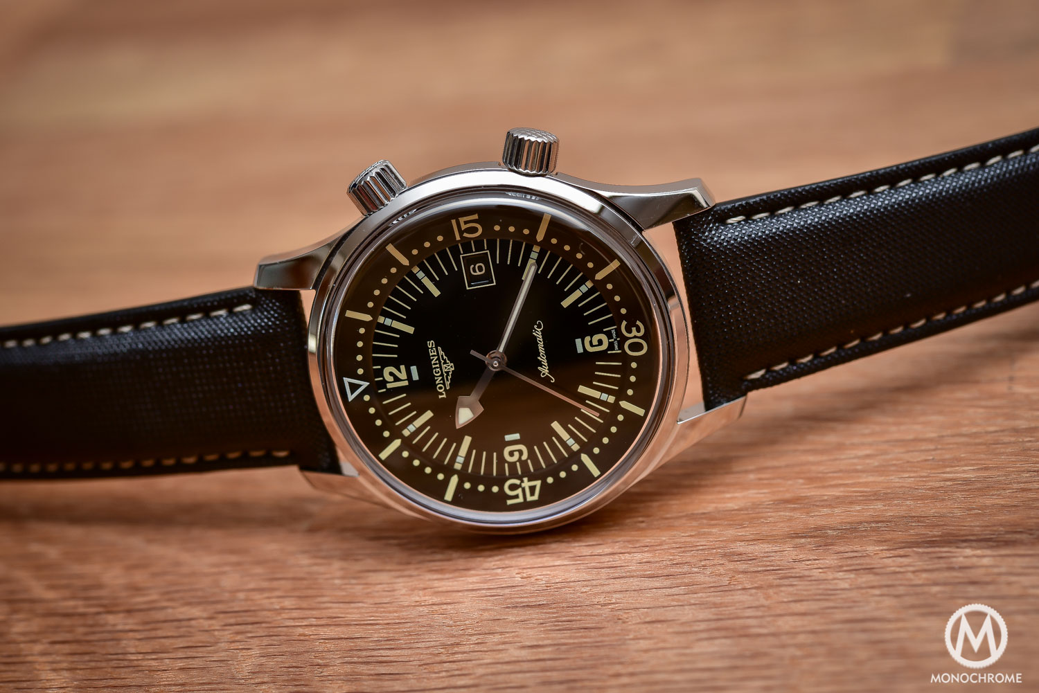 Comparative Review - 3 affordable & vintage-inspired dive watches - Longines Legend Diver - 3