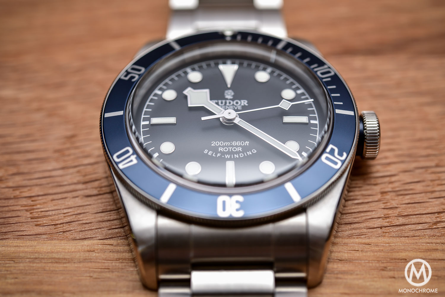 Comparative Review - 3 affordable & vintage-inspired dive watches - Tudor Heritage Black Bay Blue 79220B - 1