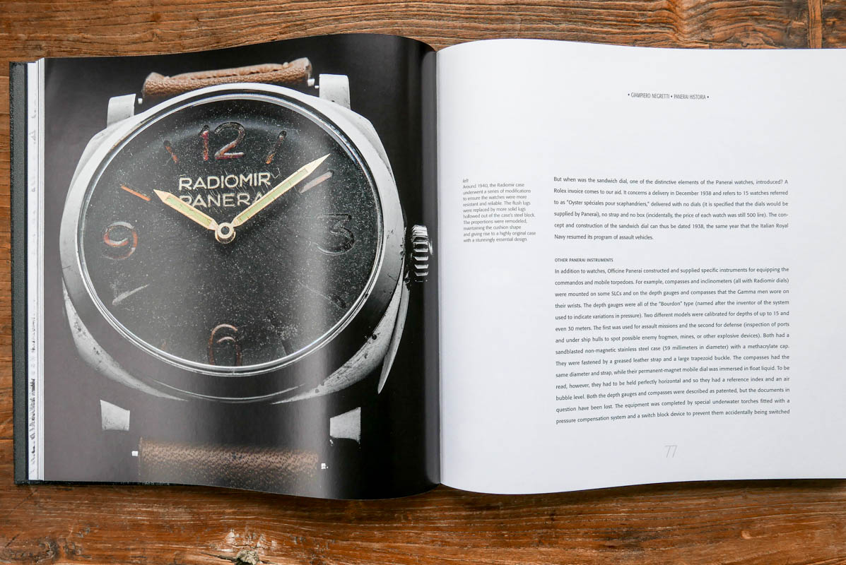 Monochrome raffles-Panerai book Orologia