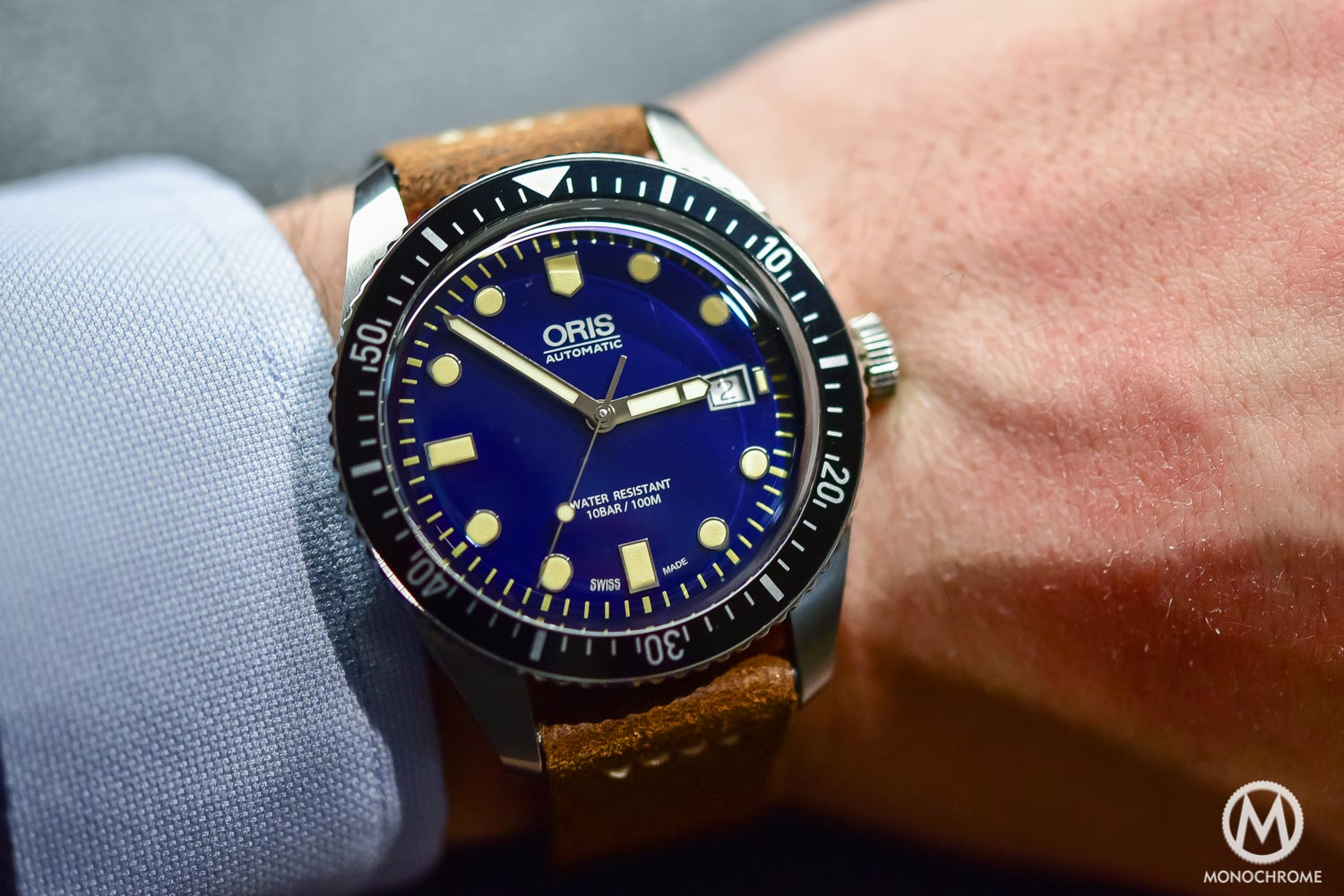 Oris Divers Sixty Five 42mm Blue Dial - Baselworld 2016 - Wristshot