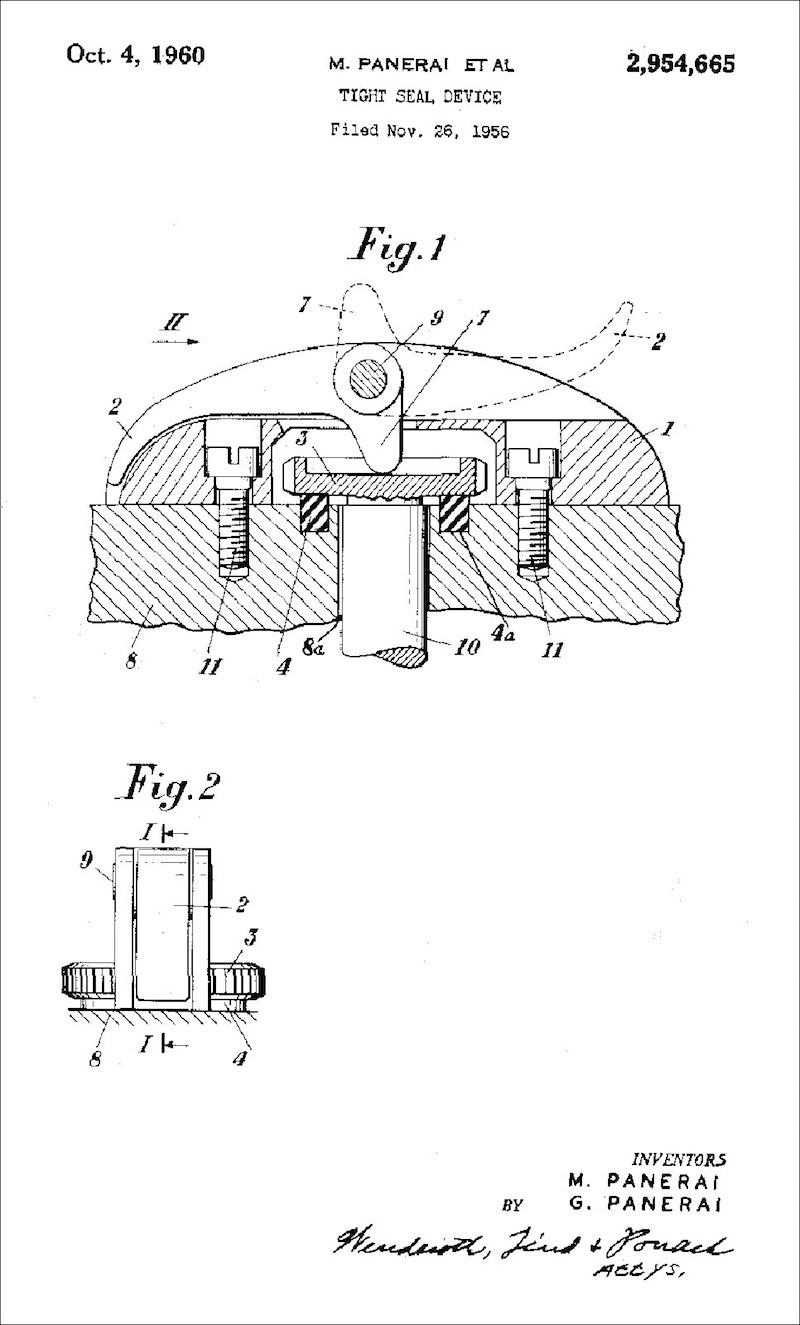 Panerai-Tight-Seal-Device-Patent-Nov-26-1956