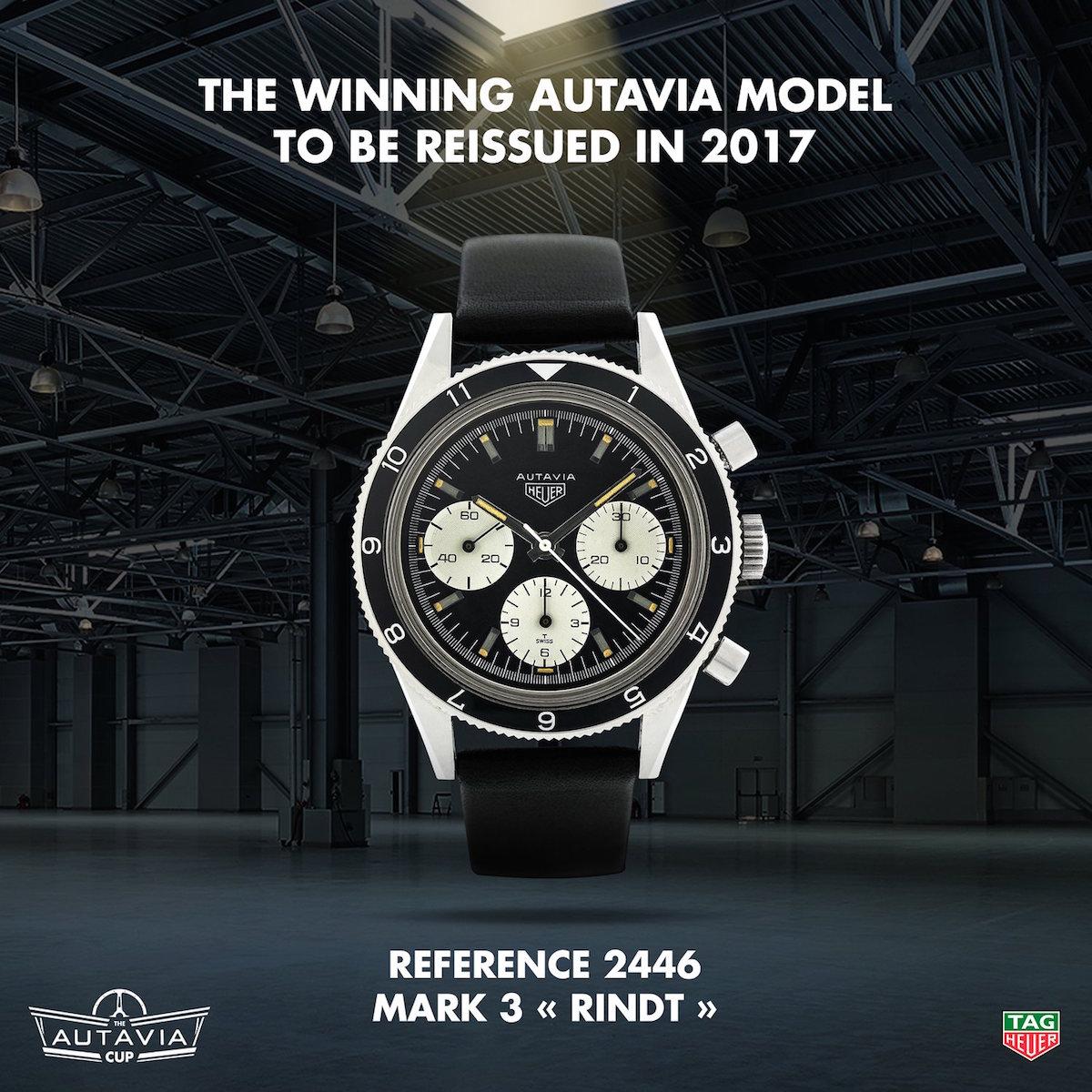 Tag Heuer Autavia Cup Winner - Autavia 2446 Mark 3 Jochen Rindt - 2