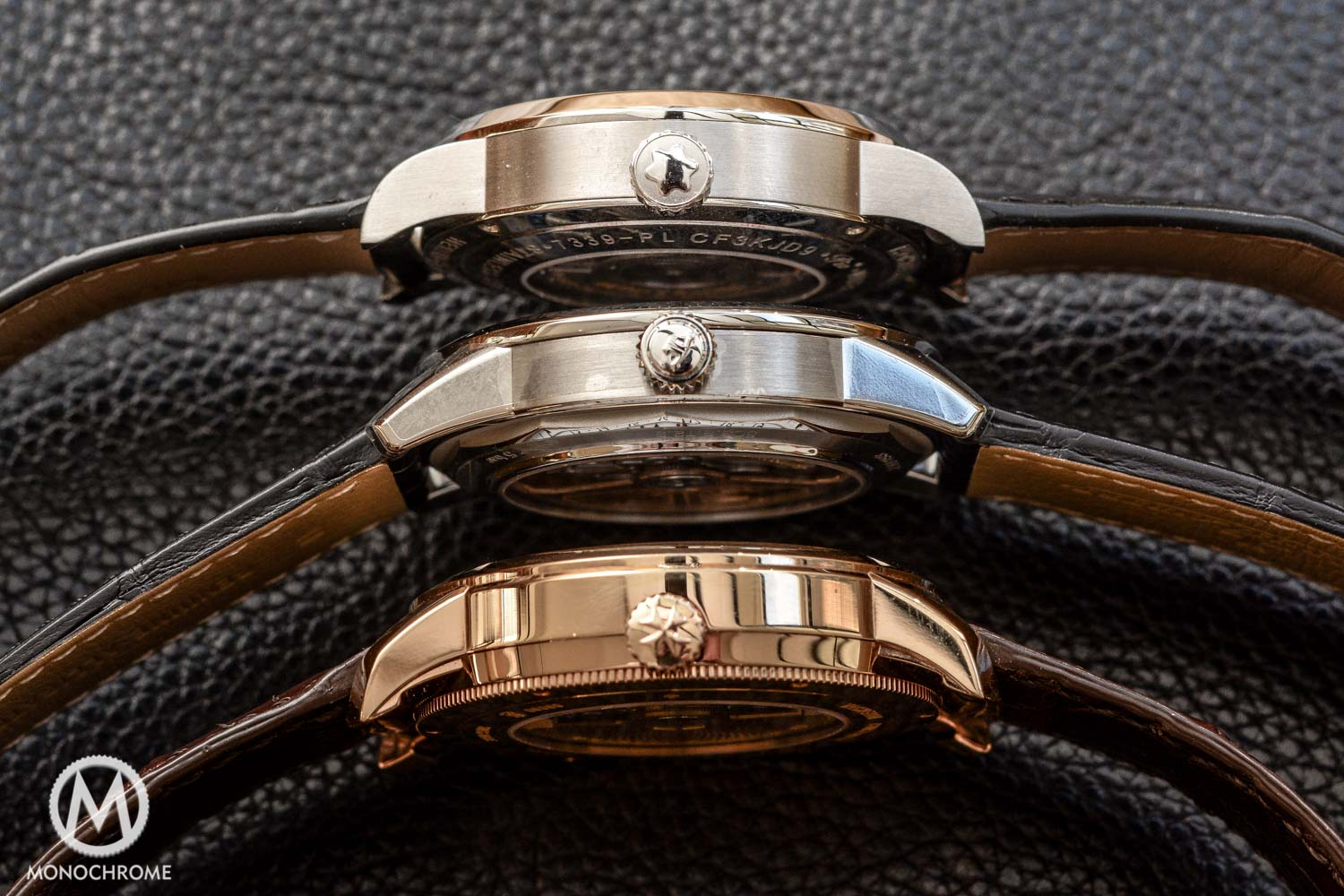 From top to bottom: Montblanc, Jaeger-LeCoultre and Vacheron Constantin