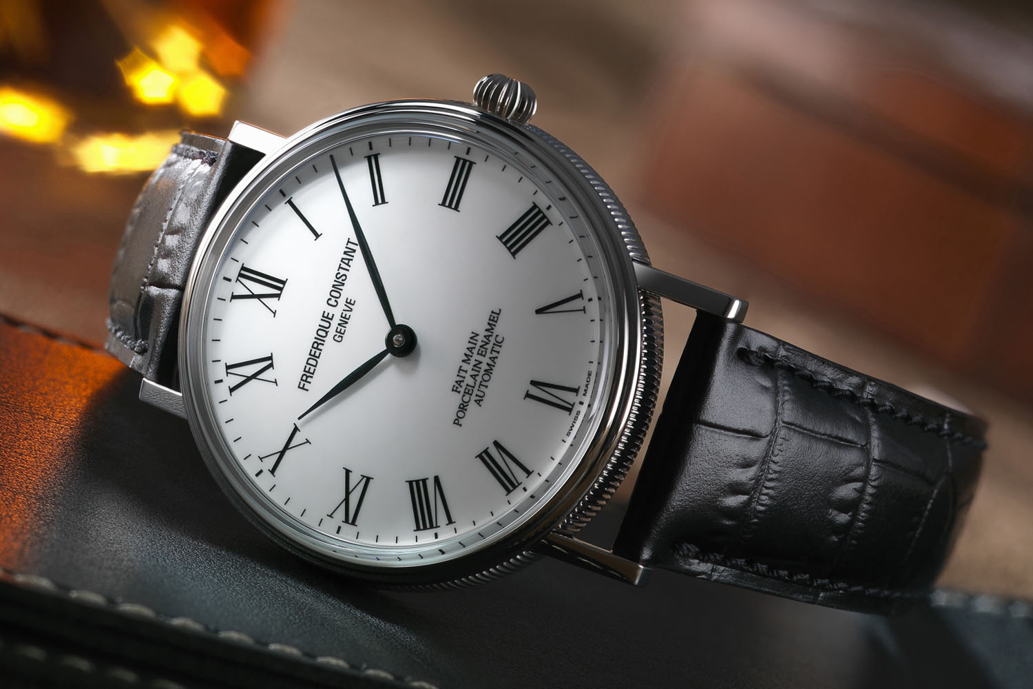 Frederique Constant Classics Art of Porcelain - affordable hand made porcelain dial - 2