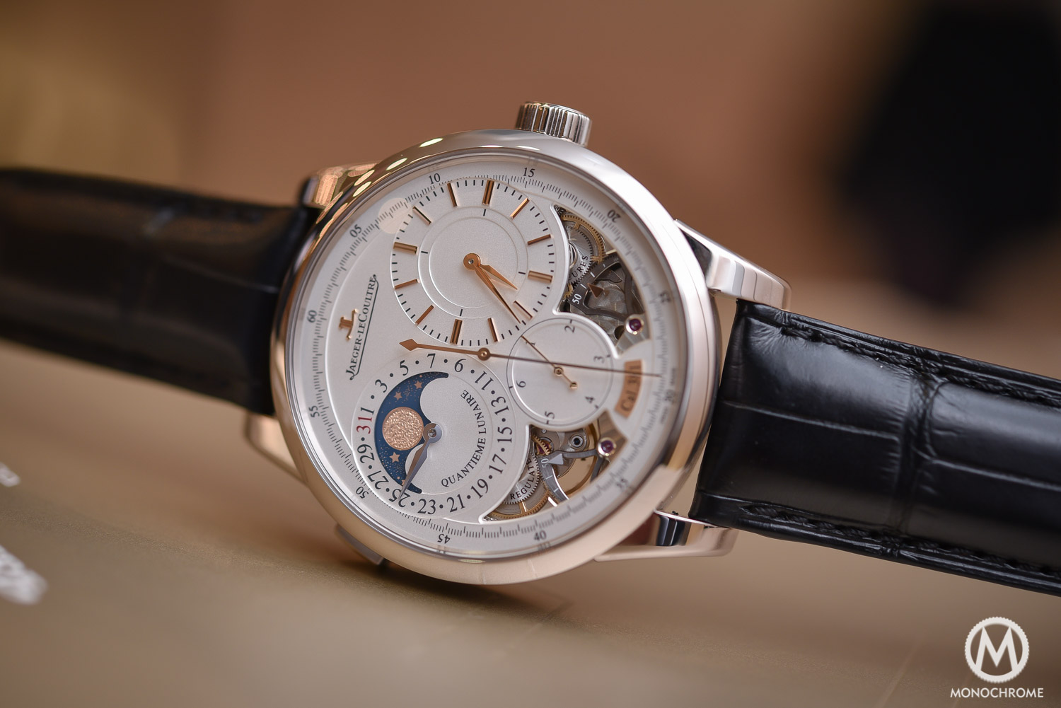 Jaeger-LeCoultre Duometre Quantieme Lunaire in white gold and opened dial - 2
