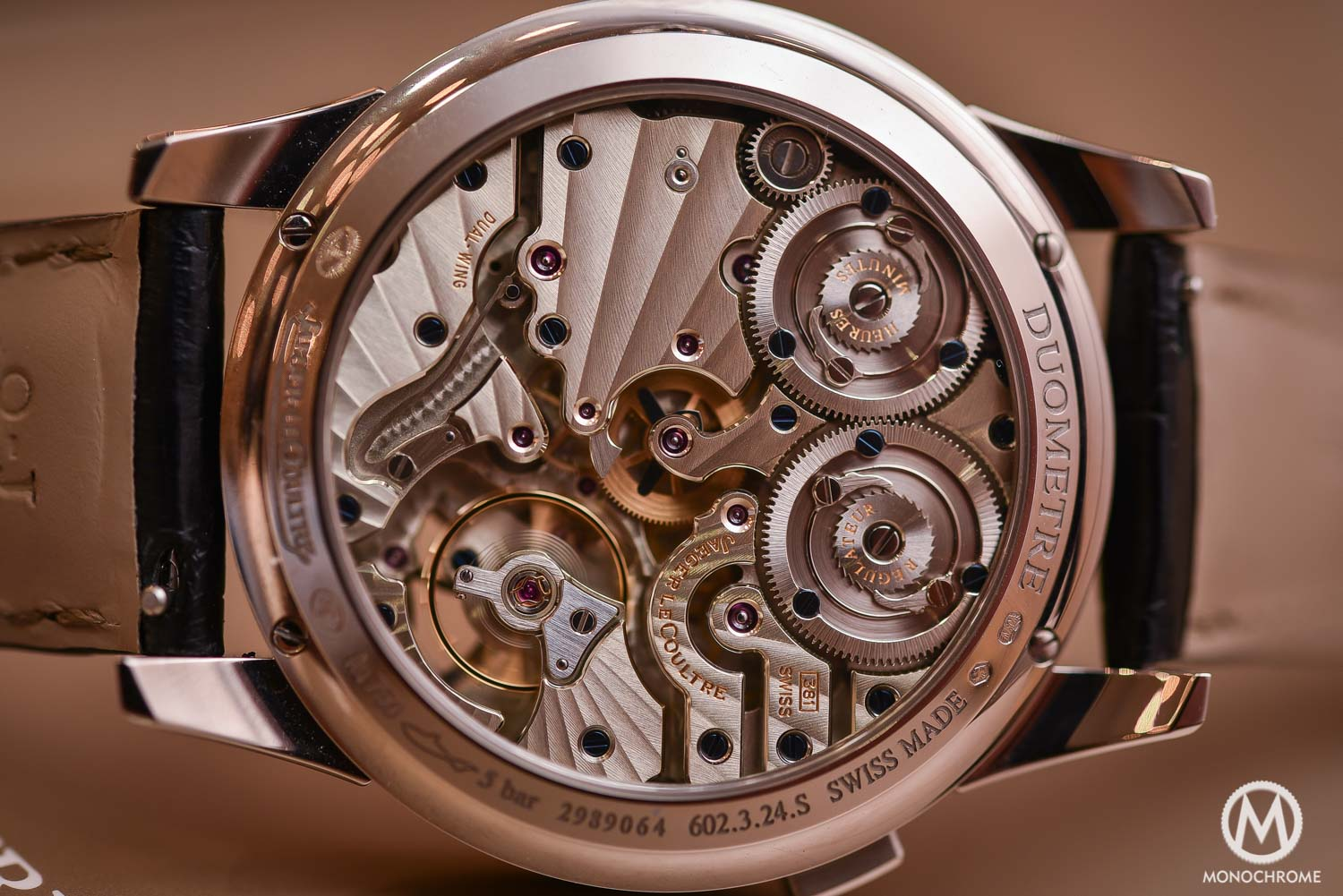 Jaeger-LeCoultre Duometre Quantieme Lunaire in white gold and opened dial - 4