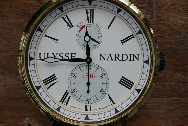 Give Away Ulysse Nardin Wall Clock Yes That S The Full Size Wall Clock That You Can See At Retailers Monochrome Watches