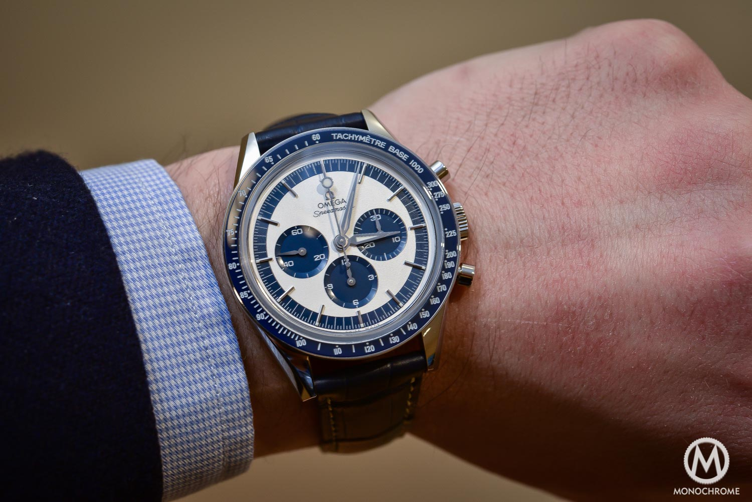 OMEGA Speedmaster CK2998 Limited Edition lollipop blue panda - Baselworld 2016 - 1