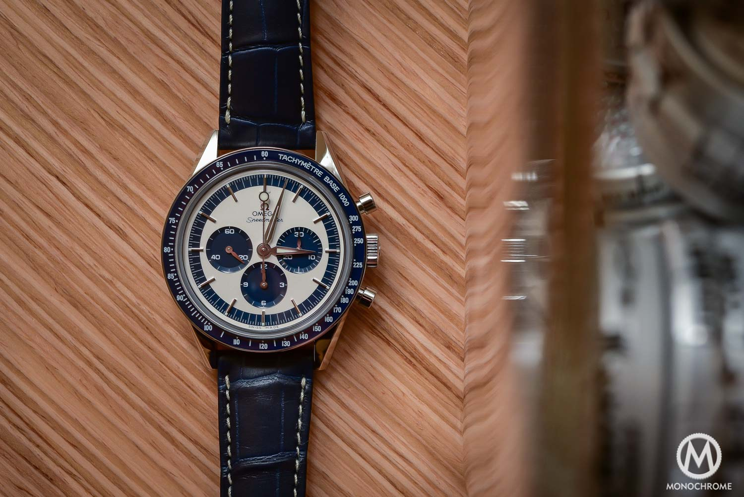 OMEGA Speedmaster CK2998 Limited Edition lollipop blue panda - Baselworld 2016 - 5