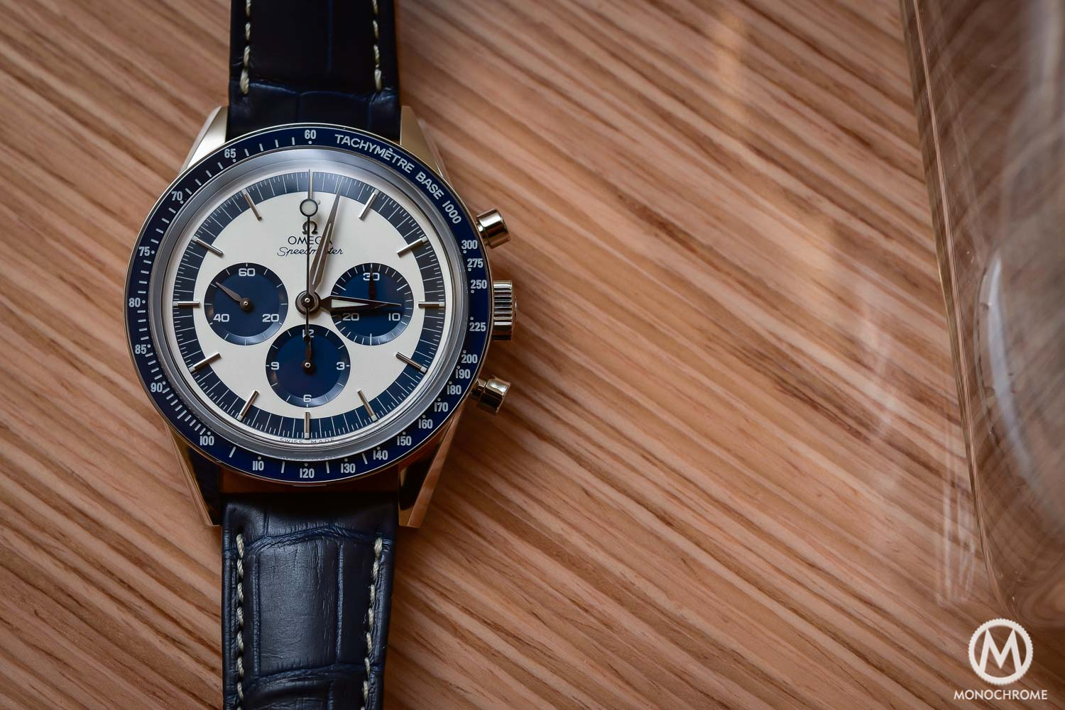 OMEGA Speedmaster CK2998 Limited Edition lollipop blue panda - Baselworld 2016 - 6