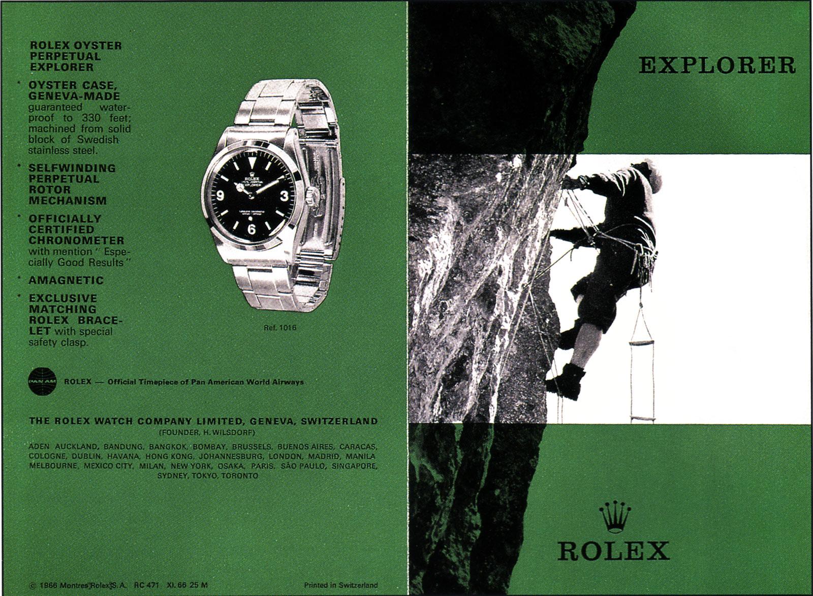 Rolex Explorer 1016 ad