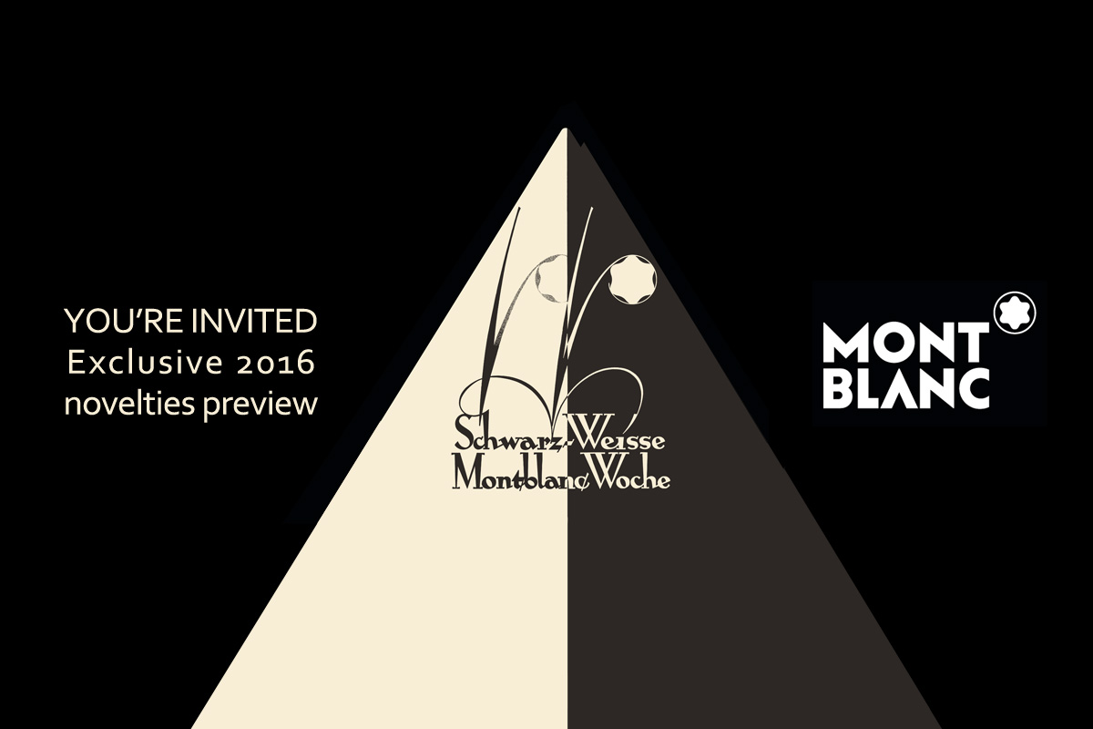 Montblanc Black & White week 2016