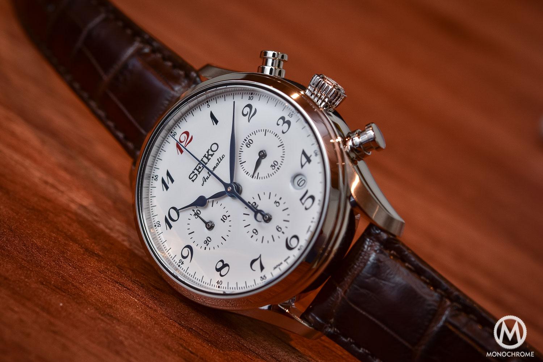 Seiko Presage 60th Anniversary Chronograph white enamel dial - 2