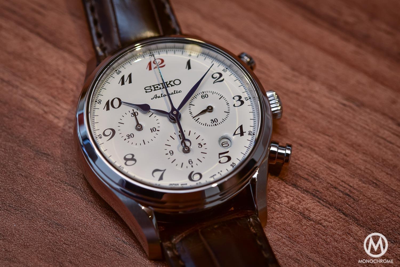 Seiko Presage 60th Anniversary Chronograph white enamel dial - 3