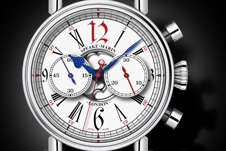 Speake-Marin London Chronograph Special Edition Harrods - vintage Valjoux 92 movement - 1