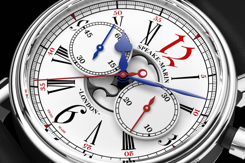 Speake-Marin London Chronograph Special Edition Harrods - vintage Valjoux 92 movement - 3