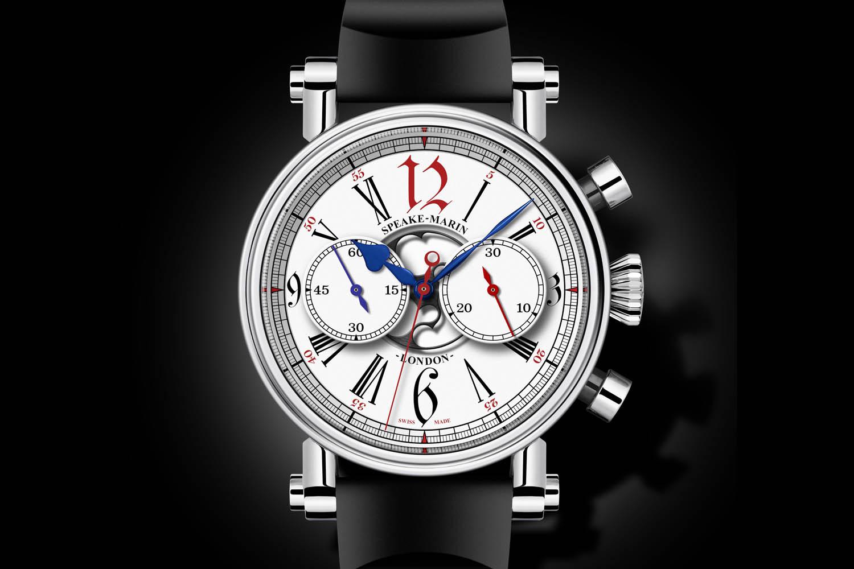 Speake-Marin London Chronograph Special Edition Harrods - vintage Valjoux 92 movement - 4