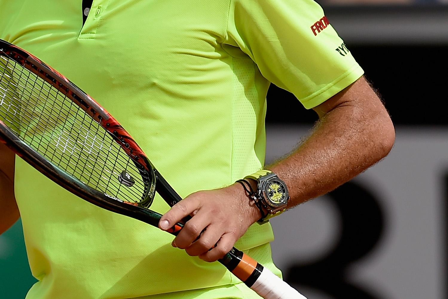 Stanislas Wawrinka wearing the new Audemars Piguet Royal Oak Offshore Diver Chronograph at Roland Garros 2016