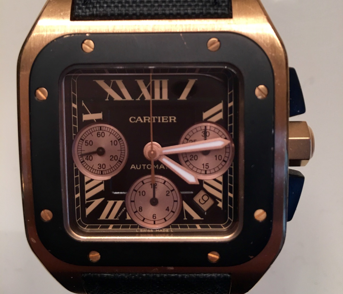 Cartier Santos 100XL Chronograph Pink Gold - Catawiki 5 Cool Finds - 1