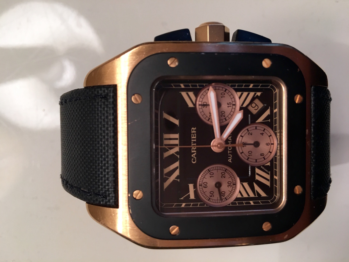 Cartier Santos 100XL Chronograph Pink Gold - Catawiki 5 Cool Finds - 2
