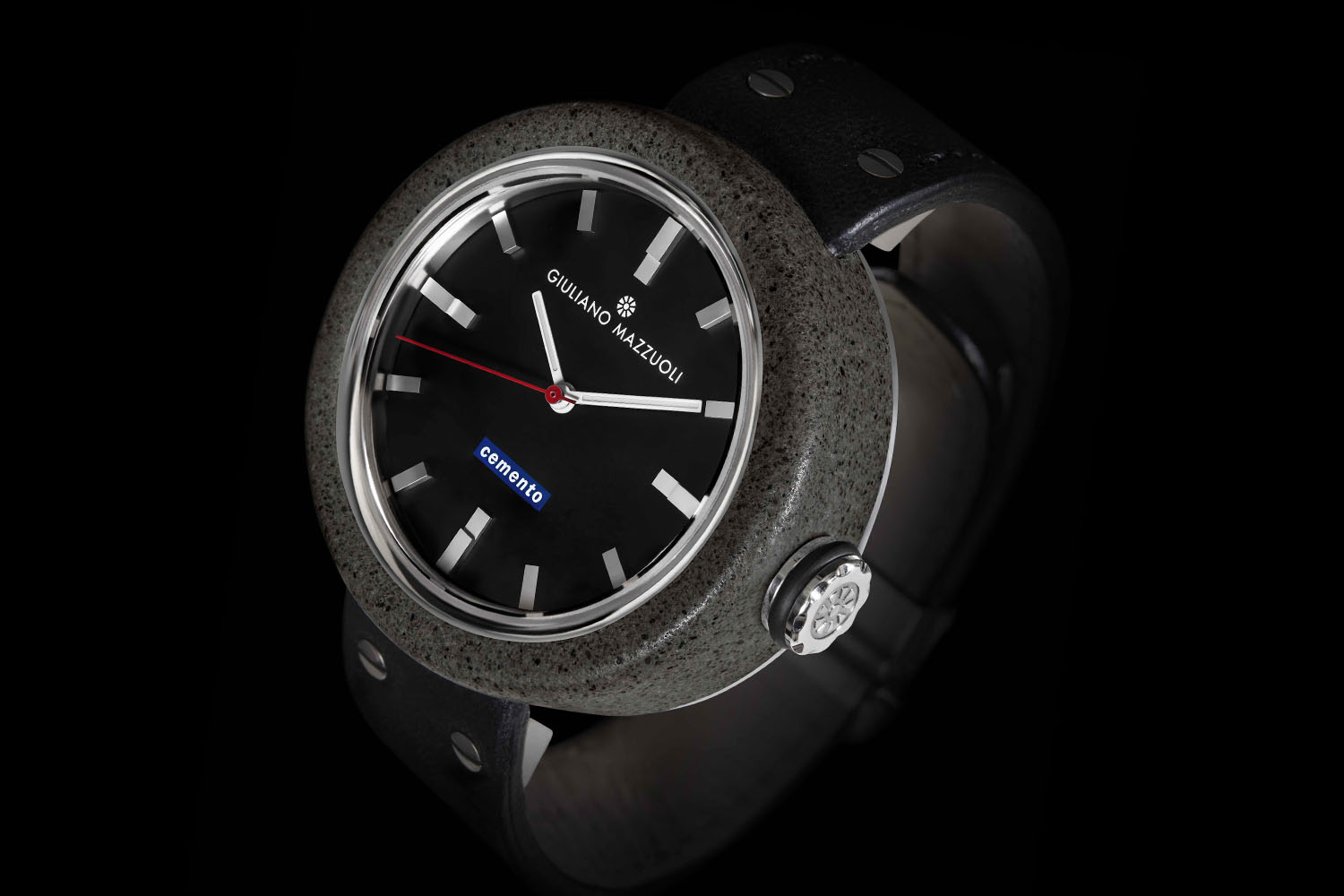Giuliano Mazzuoli Cemento - wristwatch made of cement
