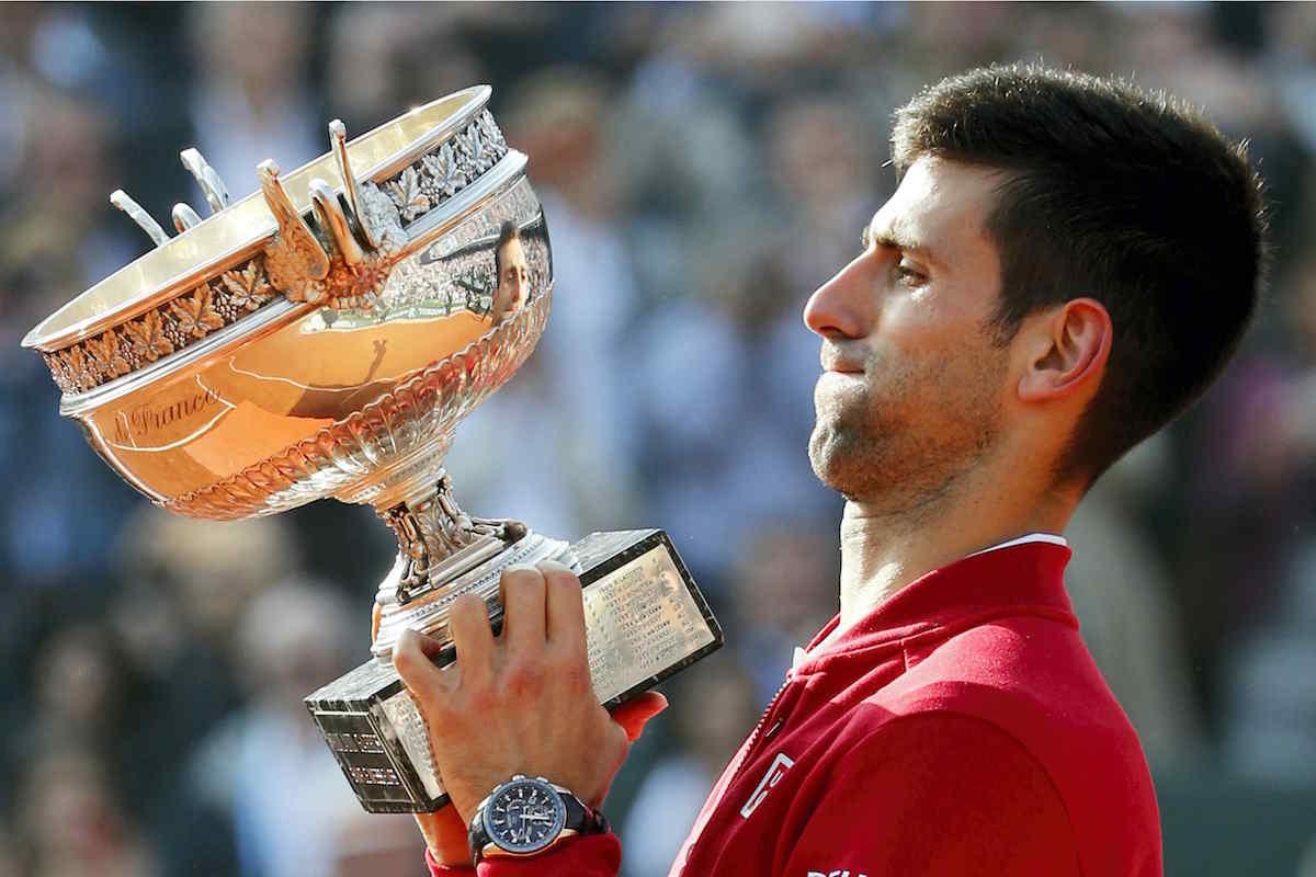 SPOTTED Novak Djokovic, winner of French Open Roland