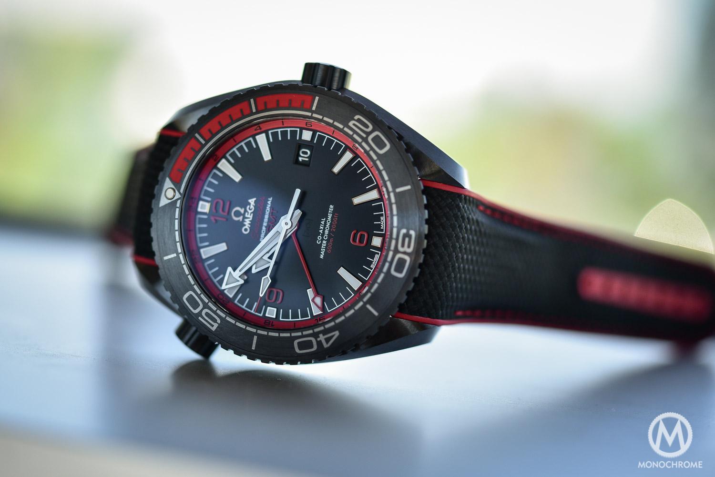 Omega Seamaster Planet Ocean Deep Black - Black Red