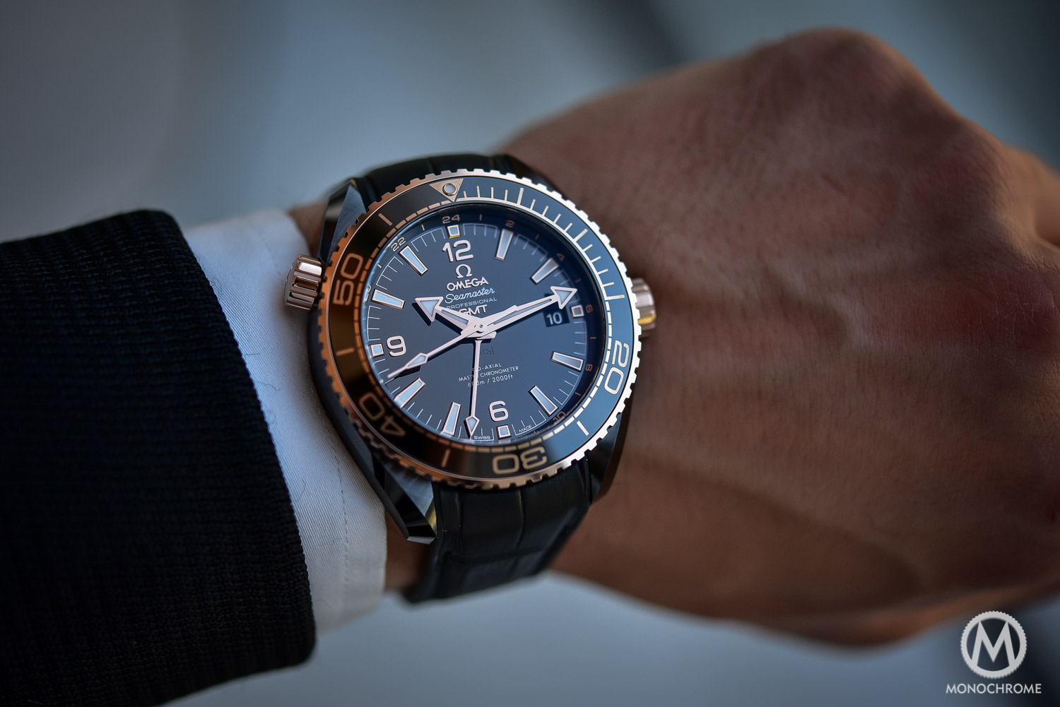 Introducing - Omega Seamaster Planet Ocean Deep Black (Ceramic GMT ... 04e24048f0