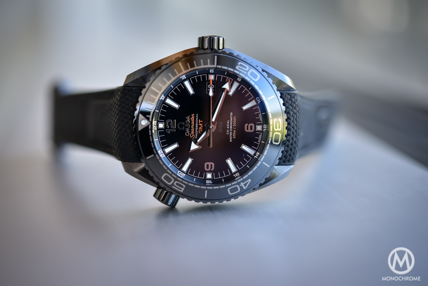 8b281d50bc6f Introducing - Omega Seamaster Planet Ocean Deep Black (Ceramic GMT ...