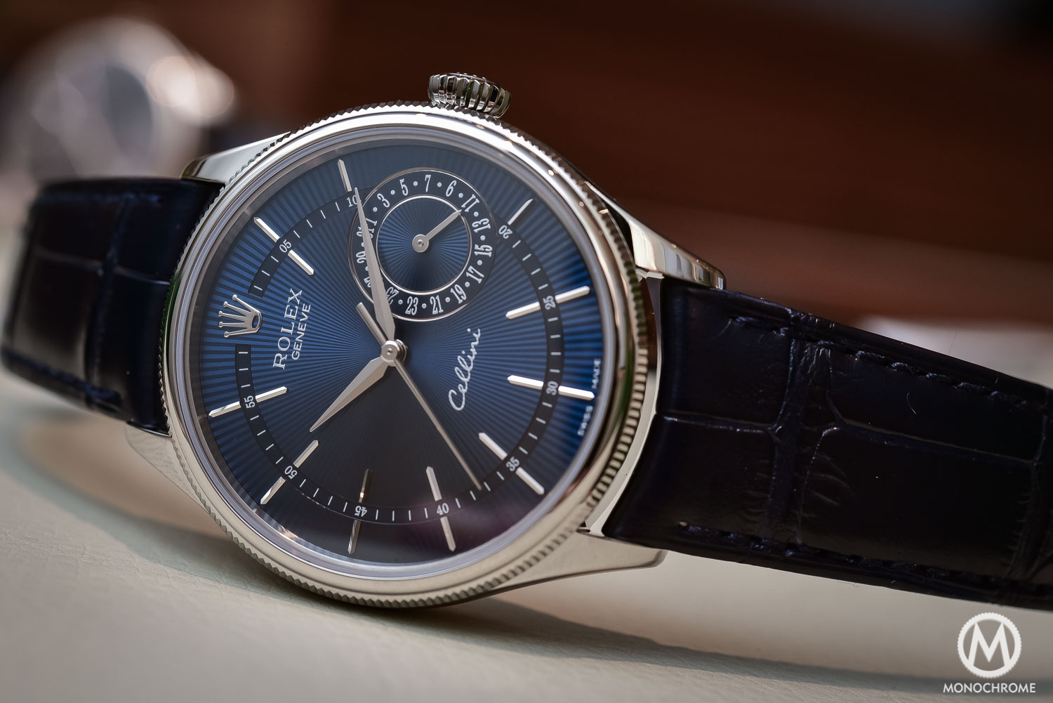 Rolex Cellini Date Blue Dial white gold 2016