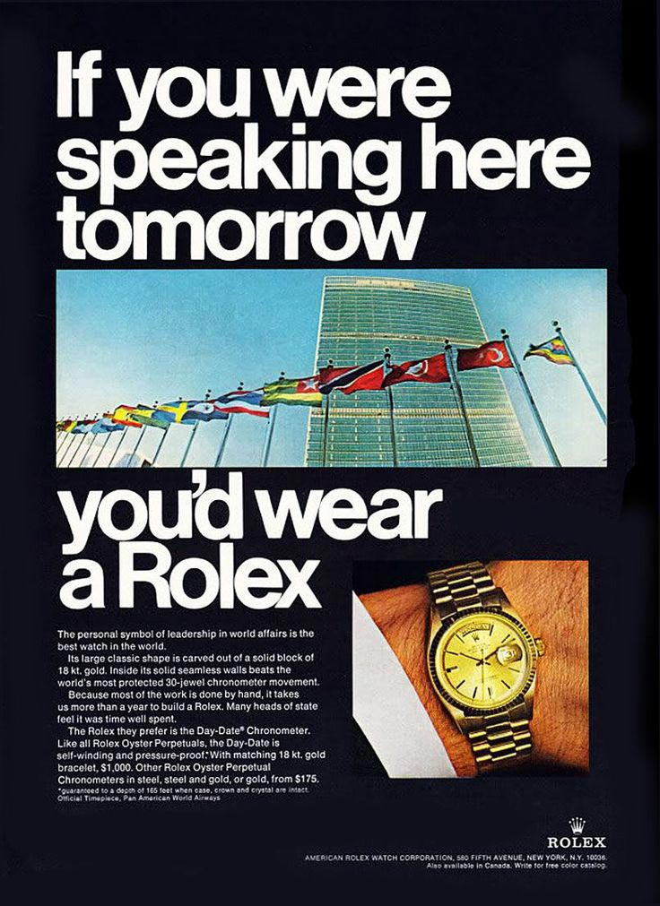Rolex ad United Nations