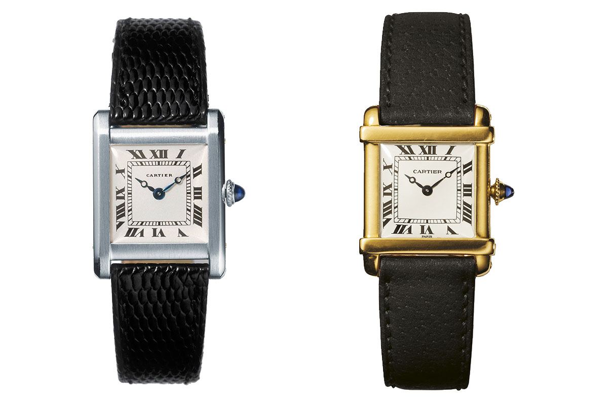 Cartier vintage Tank Chinoise and normale