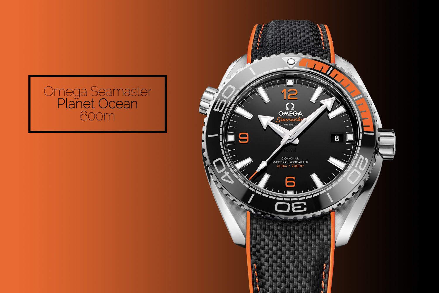 Omega Seamaster Planet Ocean 600m black orange 2016