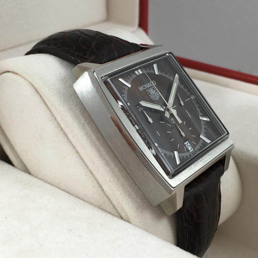 Tag Heuer Monaco chronograph Brown