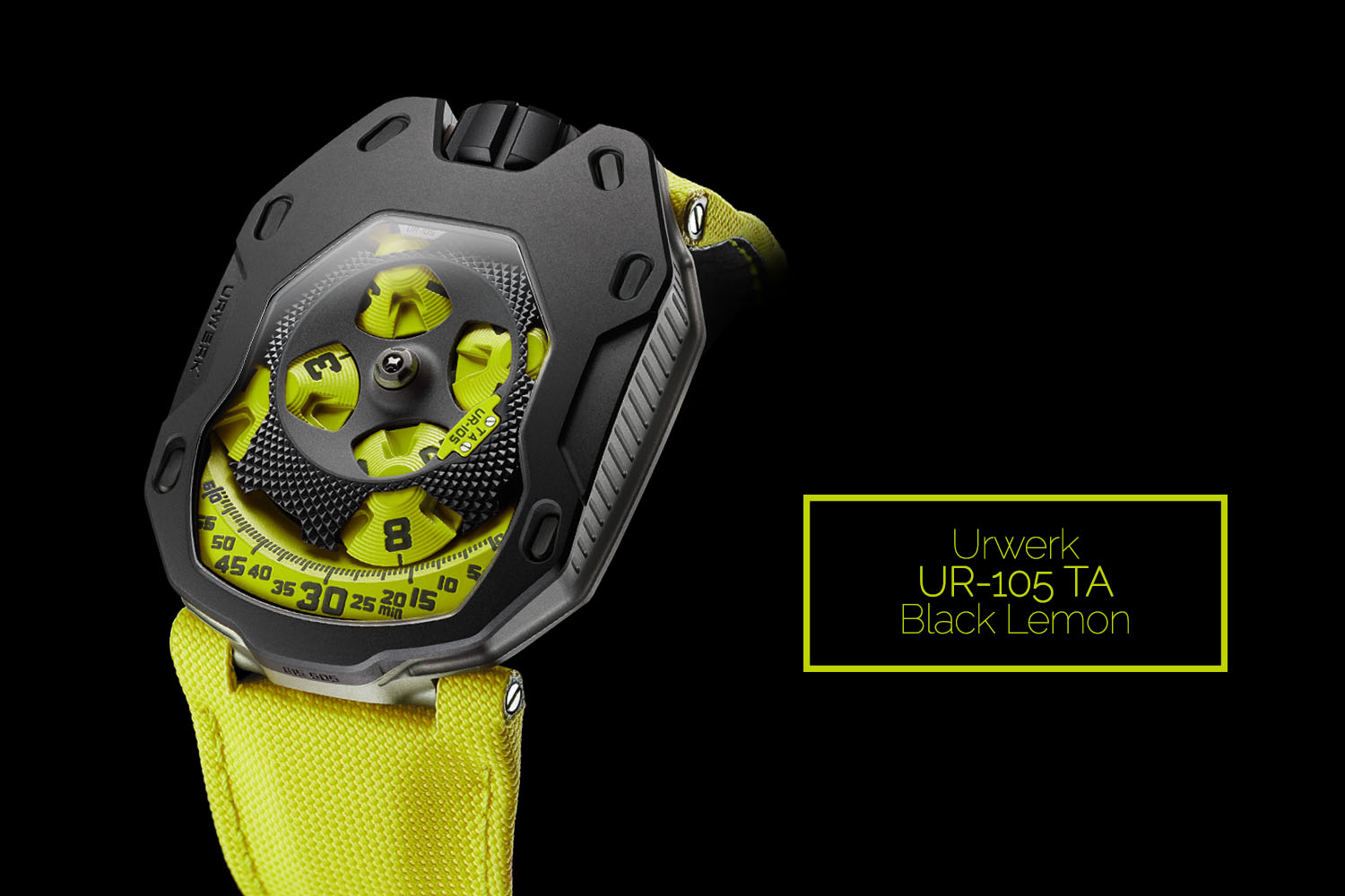 Urwerk UR-105 Black Lemon