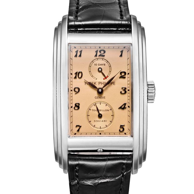 5101p-patek-philippe-10-day-tourbillon-platinum - Shaped Watches by Vacheron Constantin and Patek Philippe