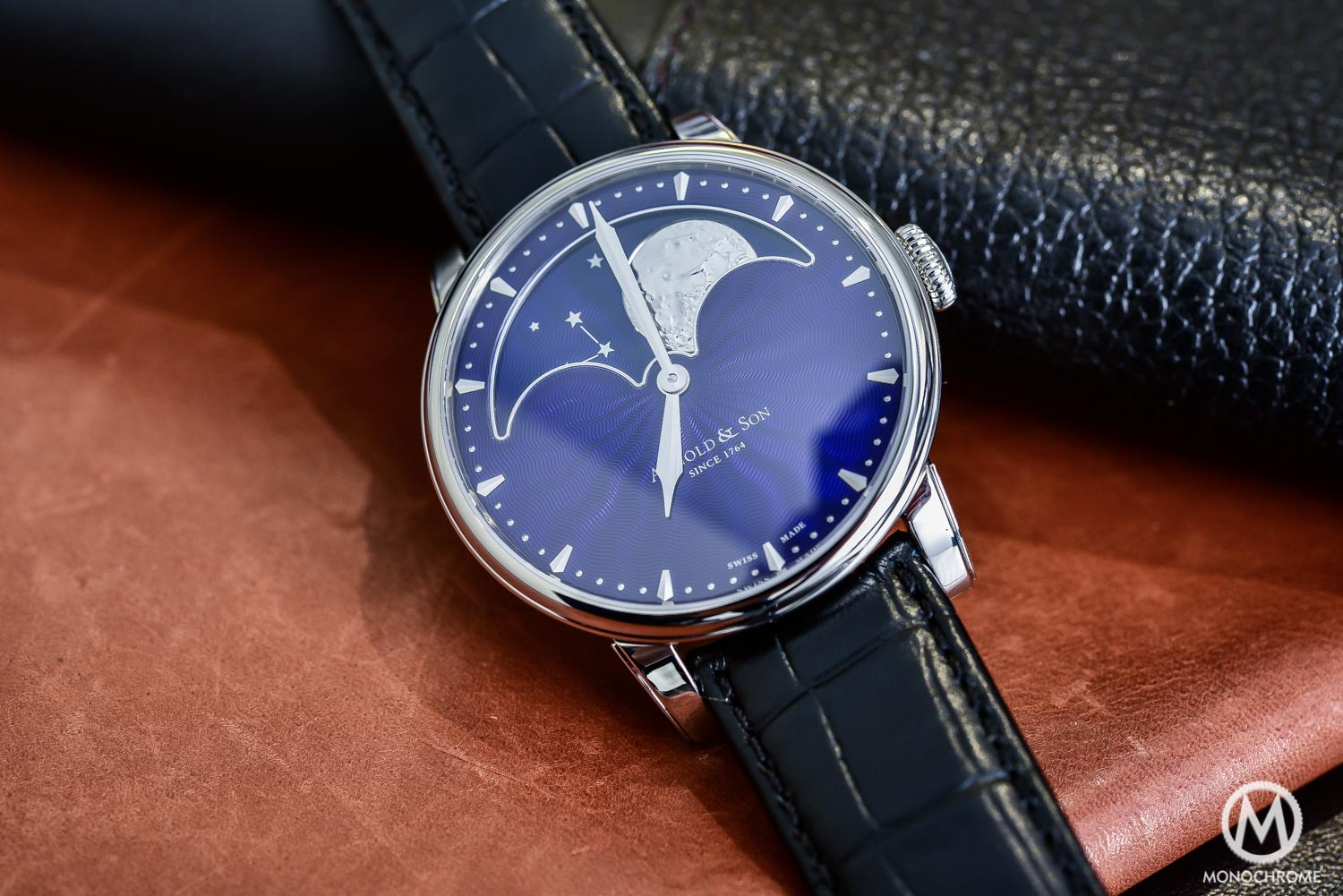 Arnold and Son HM Perpetual Moon steel blue dial