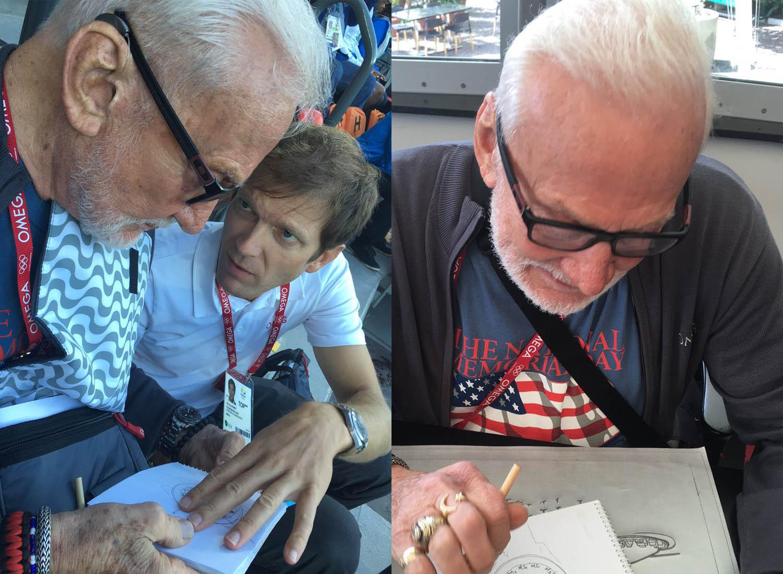 Buzz Aldrin designing omega marswatch