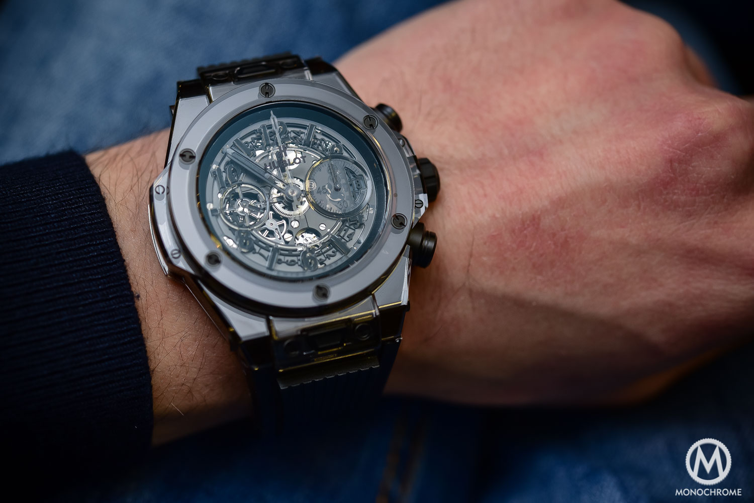 Hands-On with the very Monochrome Hublot Big Bang Unico Sapphire All ... 81433be424