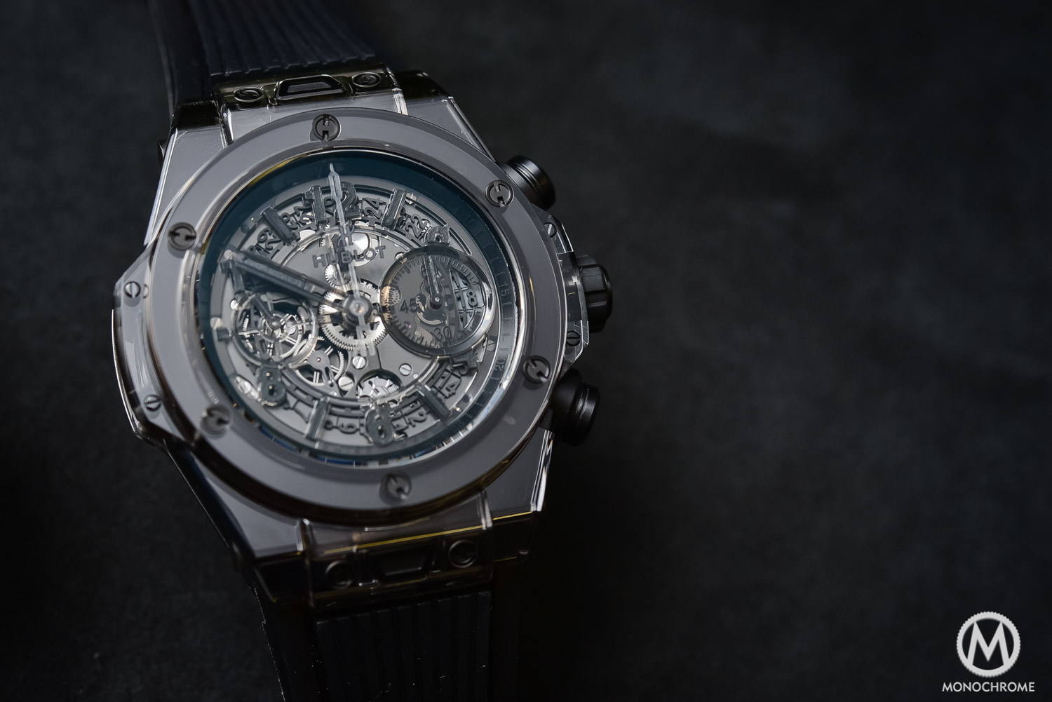 Hands On With The Very Monochrome Hublot Big Bang Unico Sapphire