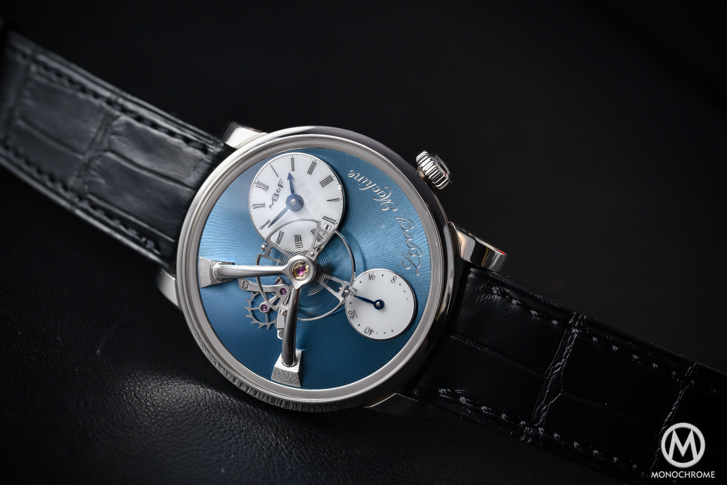 MBandF LM101 Platinum blue Dial Legacy Machine