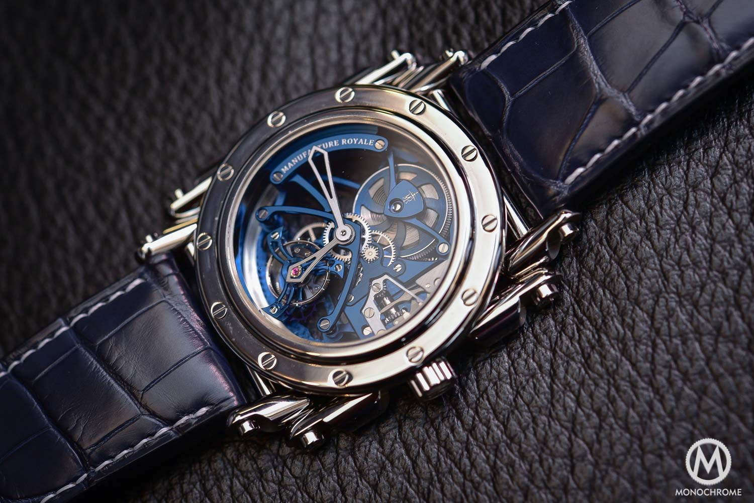 Manufacture Royale Androgyne Royale Skeleton Tourbillon Steel blue